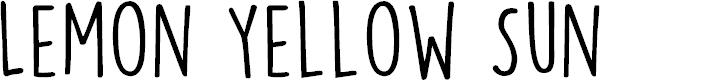 Preview image for DKLemonYellowSun Font