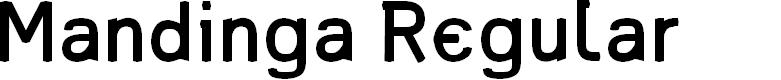 Preview image for Mandinga Regular Font