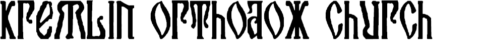 Preview image for Kremlin Orthodox Church Font