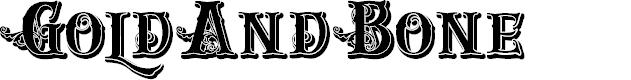 Preview image for GoldAndBone Font