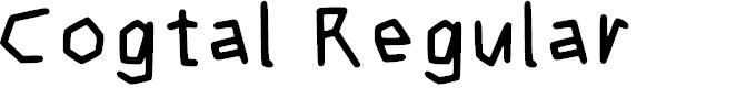 Preview image for Cogtal Regular Font