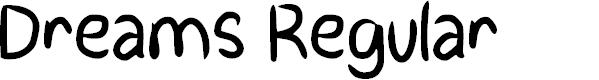 Preview image for Dreams Regular Font