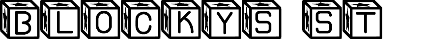 Preview image for Blockys St Font