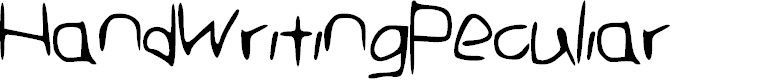 Preview image for Hand_Writing_Peculiar Font