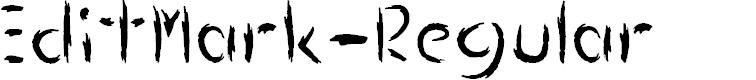 Preview image for EditMark-Regular Font