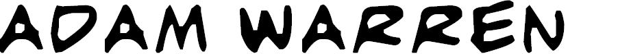 Preview image for adam warren 0.2 Font