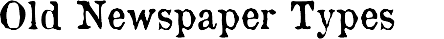 Preview image for OldNewspaperTypes Font