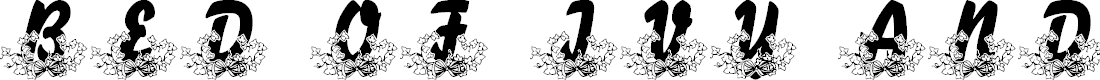 Preview image for LMS Bed of Ivy and Ribbons Font