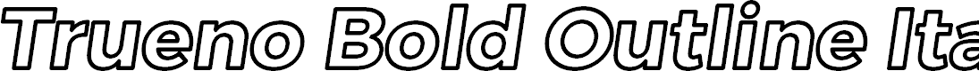 Preview image for Trueno Bold Outline Italic