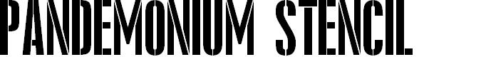 Preview image for Pandemonium Stencil Regular Font