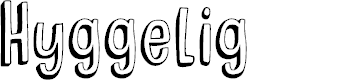 Preview image for DKHyggelig Font