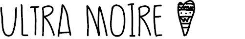 Preview image for UltraMoire Font
