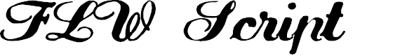 Preview image for FLW Script Font