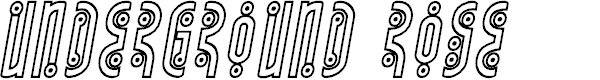 Preview image for Underground Rose Outline Italic