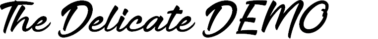 Preview image for The Delicate DEMO Font