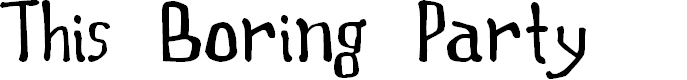 Preview image for This Boring Party Font