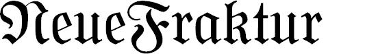 Preview image for NeueFraktur Font