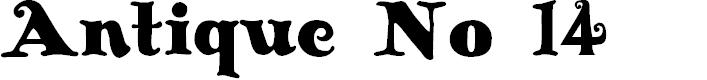 Preview image for Antique No 14 Regular Font