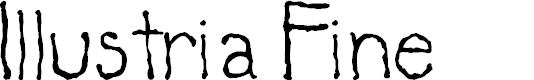 Preview image for Illustria Fine Font