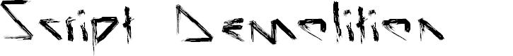 Preview image for Script Demolition Font