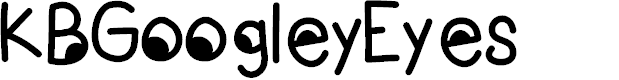 Preview image for KBGoogleyEyes Font
