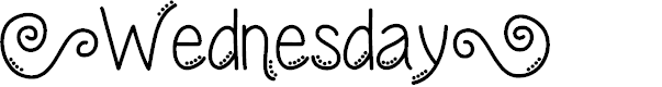 Preview image for Wednesday Font