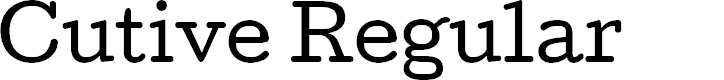 Preview image for Cutive Regular Font