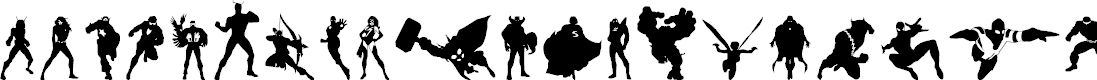 Preview image for Heroes Assemble Dingbats Regular Font