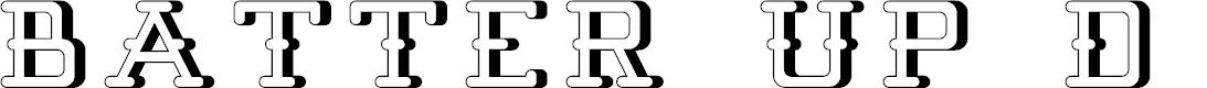 Preview image for Batter Up 3D Font