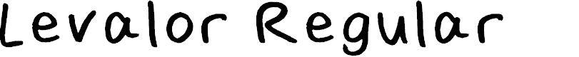 Preview image for Levalor Regular Font