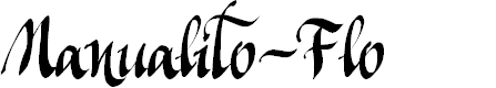 Preview image for Manualito-Flo Font