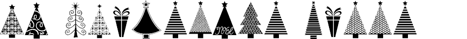 Preview image for KG Christmas Trees Font