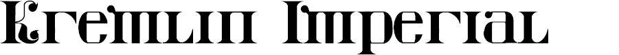 Preview image for Kremlin Imperial Font
