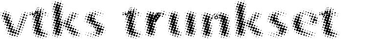 Preview image for vtks trunkset Font