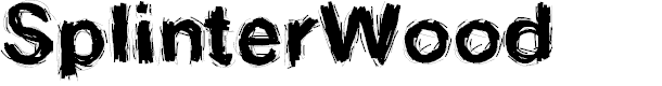 Preview image for SplinterWood Font