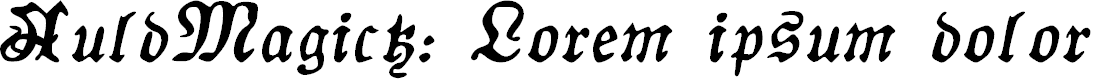 Preview image for AuldMagick Bold Italic
