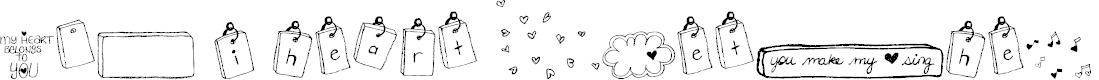Preview image for MTF i heart Sketches Font