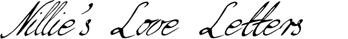 Preview image for Nillie's Love Letters Font