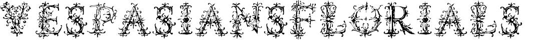 Preview image for VespasiansFlorials Font