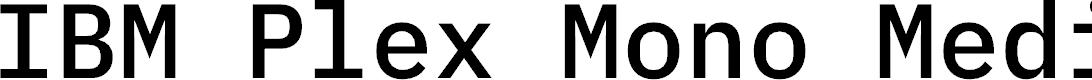 Preview image for IBM Plex Mono Medium