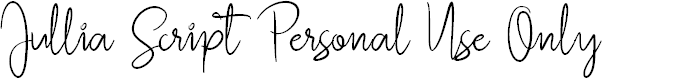 Preview image for Jullia Script Personal Use Only Font