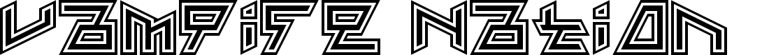 Preview image for Vampire Nation Regular Font