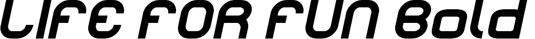 Preview image for LIFE FOR FUN Bold Italic