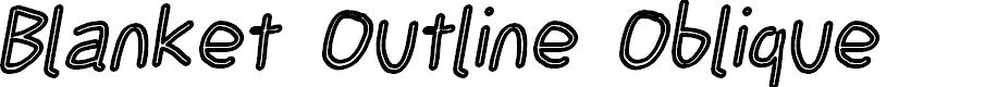 Preview image for Blanket Outline Oblique