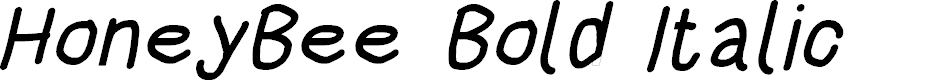 Preview image for HoneyBee Bold Italic