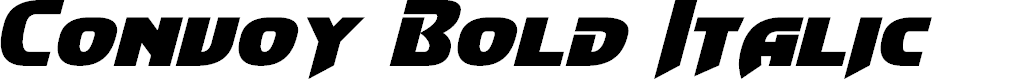 Preview image for Convoy Bold Italic