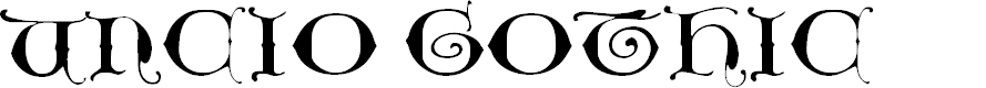 Preview image for UncioGothic Font
