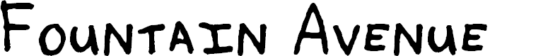 Preview image for Fountain Avenue Font