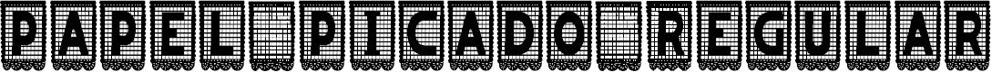 Preview image for papel picado Regular Font