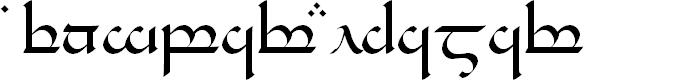 Preview image for Tengwar Eldamar Font